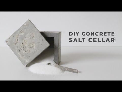 DIY Salt Cellar | How to make a concrete box