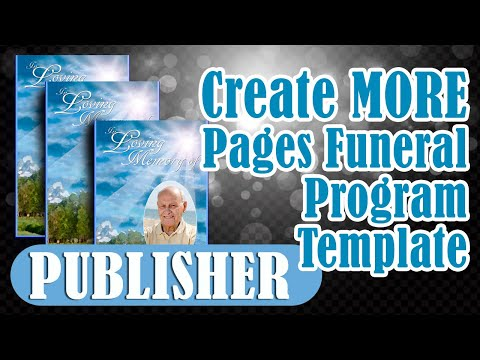 Creating Additional Pages in Microsoft Publisher for Obituary Programs
