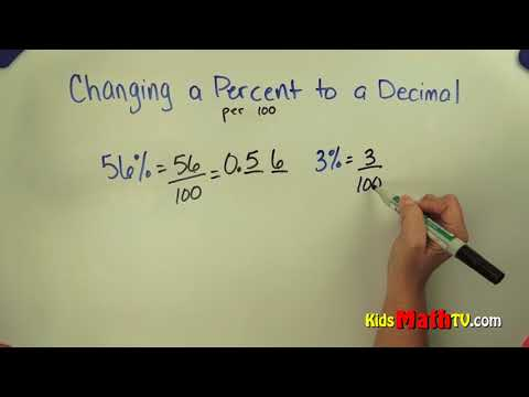 How to convert a percentage to a decimal step by step video