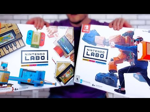 Unboxing Nintendo LABO for the Switch (Robot + Variety Kit)