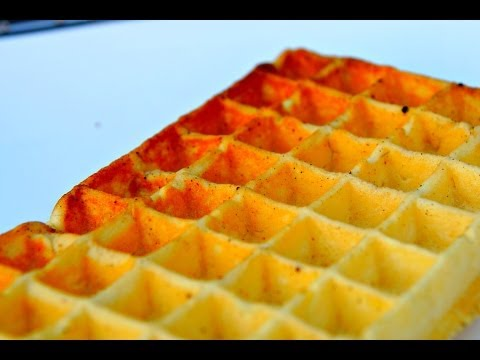 Home made Belgian Waffles - How To Waffle Video Recipe - Cast Iron Waffle iron