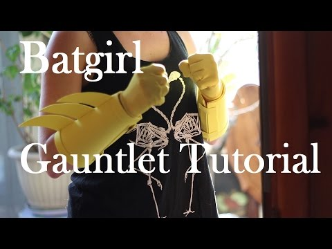 Super Easy and Cheap Batgirl Gauntlet Tutorial