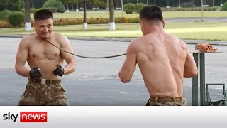 North Korean soldiers perform 'extreme martial arts' show