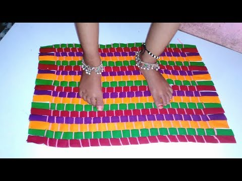 How to make Rug, Carpet, Table mat, Door mat using old clothes
