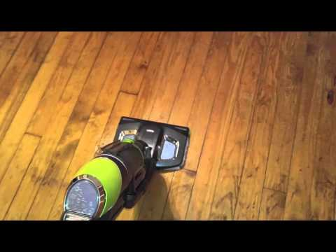 Bissell symphony wood floor test