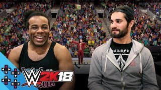 WWE 2K18: SETH ROLLINS & AUSTIN CREED take on THE NATURAL DISASTERS! - UpUpDownDown Plays