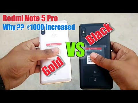 Redmi Note 5 pro Colour comparison | Why price ₹1000 Increased?
