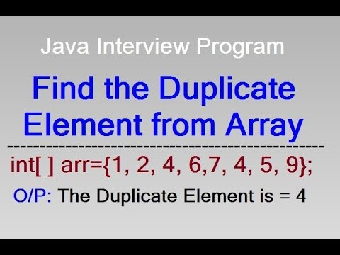Find duplicate element from an array in Java || Interview Program By D.K. Gautam
