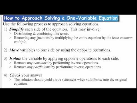Lesson 1 1   Approach to Solving Equations