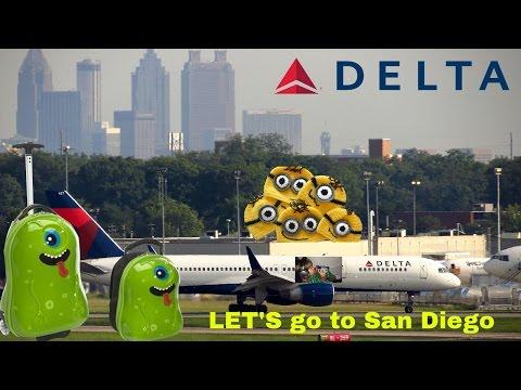 Delta Flight: Atlanta to San Diego Kids Adventures with Sweetie Fella Aleks on the plane