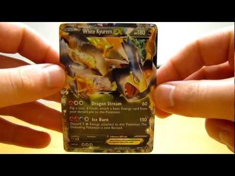 Opening a White Kyurem EX Pokemon Card Tin