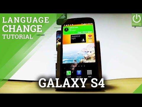 Change Language SAMSUNG Galaxy S4 - Language Settings
