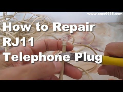 How to Repair Telephone Cord RJ11 Change Broken Plug and Phone Extension Cord