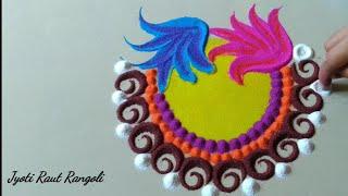 Beautiful and amazing rangoli design by Jyoti Raut Rangoli