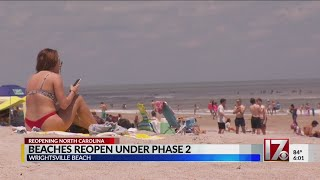 Many turn out to NC beaches as state reopens for holiday weekend