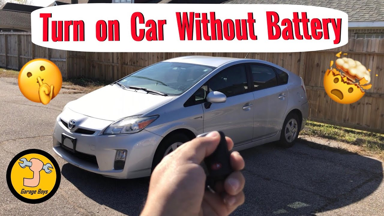 How To Turn On Toyota Prius With A Dead Battery