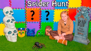ASSISTANT Spider Hunt with Paw Patrol and PJ Masks Spooky Scavenger Hunt Video