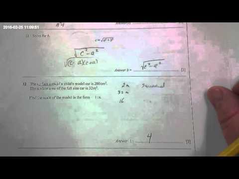 Scale Factor Area Conversion Problem IGCSE Paper 2