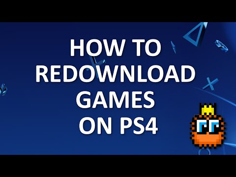 How To Redownload Games On PS4 [Tutorial]