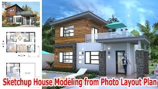 Sketchup House Modeling From Photo Layout Plan
