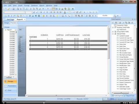 Creating Page Breaks in Crystal Reports