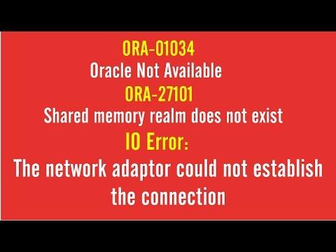 FIX: ORA-01034   Oracle Not Available   ORA-27101   IO ERROR
