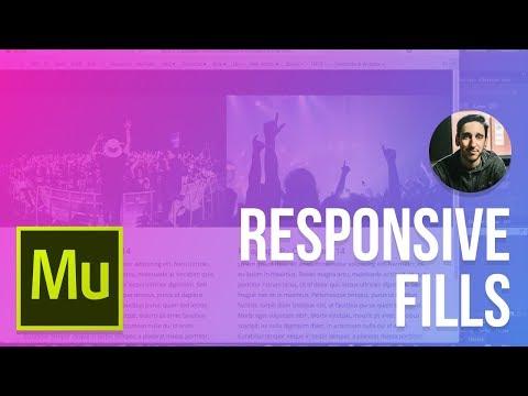 Adobe Muse 2016 Tutorial | Responsive Images vs Fills