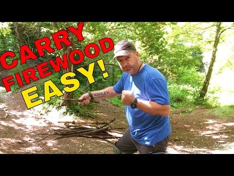 How to make a  firewood carrier.