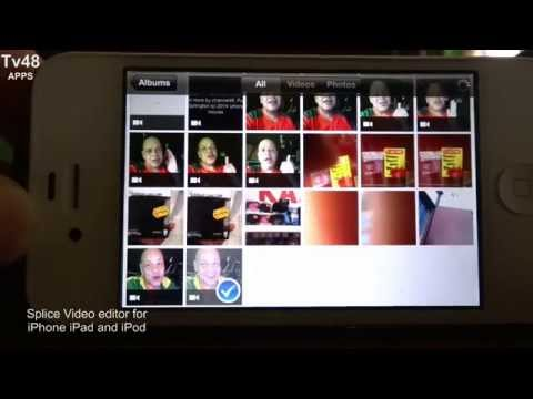 This is how to combine and edit your videos with a iPHONE 4 (s)  or iPAD 1 (2) -