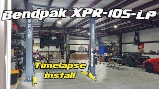 Bendpak XPR-10S-LP Time Lapse Install