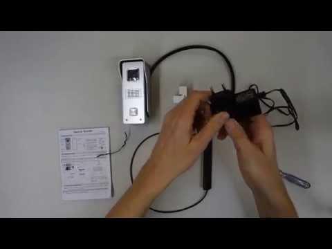 Installation und Bedienung der WLAN-Türklingel-Kamera DVA-110DOOR