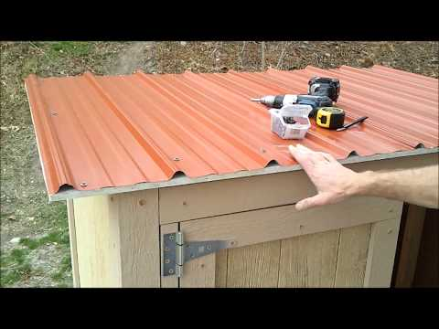 11-Installing Shed Metal Roofing - How to Build a Generator Enclosure.wmv