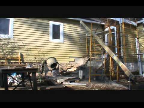 Homemade wooden Crane made of standard lumber