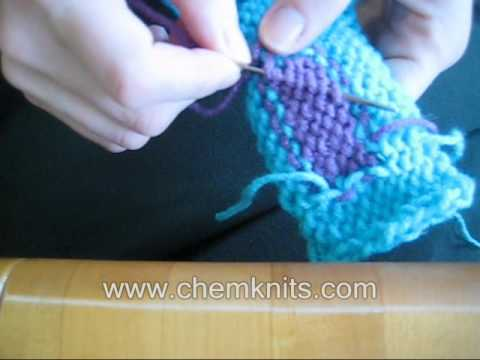 How to Weave in Your Loose Ends -- How to Finish your Knitting Project