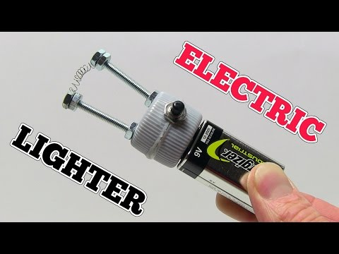 How to make a ELECTRIC LIGHTER at home using 9V Battery