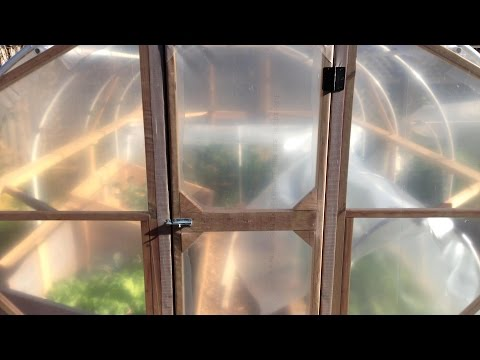 How I Built Our DIY Hoop House (Greenhouse), pt. 2: Door & Plastic Cover