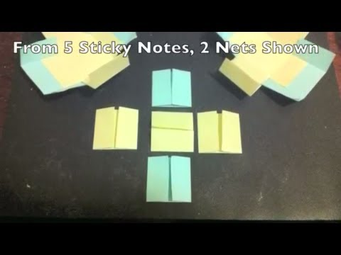How to Make A Box from 5 Sticky Notes.