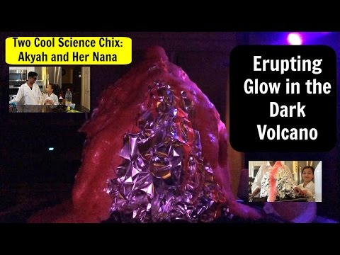 How to Make an Erupting Glow in the Dark Volcano: Fun Science for Kids