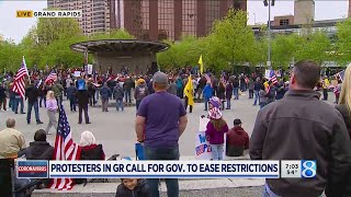 Protesters in Grand Rapids call for Whitmer to ease restrictions