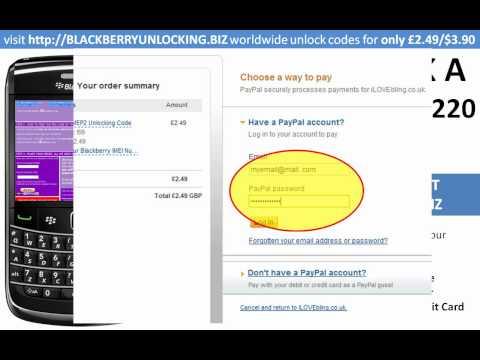 how to unlock a blackberry curve 9220 using a mep mep2 unlock code