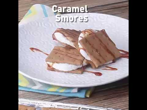 Home Foodie Bites - Caramel Smores Sandwich