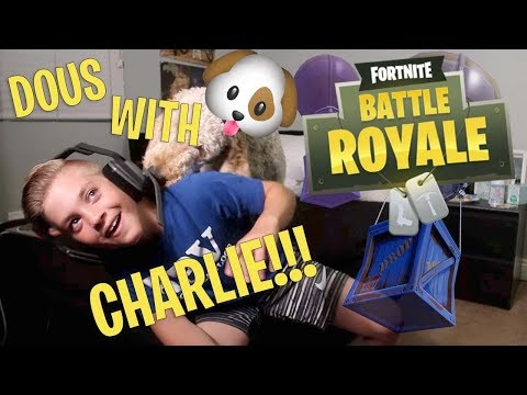FORTNITE: PLAYING DUOS WITH MY DOG CHARLIE! (ROCCO PIAZZA)