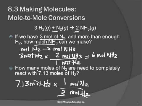 20 8.3 Making Molecules: Mole to Mole Conversion