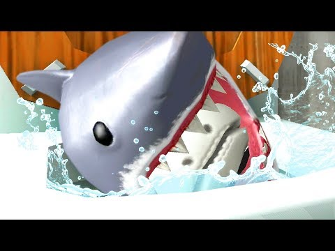 SHARK FROG SKULL FLUSHED DOWN THE MAGIC TOILET! - Amazing Frog - Part 140 | Pungence