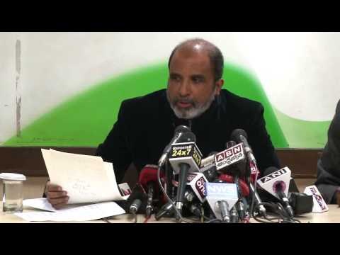 AICC Press Conference addressed by Sanjay Jha on 6 January, 2014