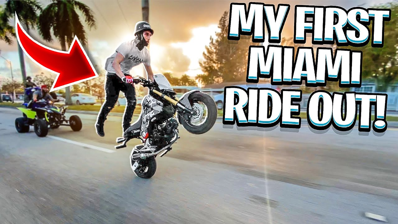 GOING TO MY FIRST MIAMI RIDEOUT SINCE I MOVED HERE ! ( POLICE CHASE ! )   BRAAP VLOGS
