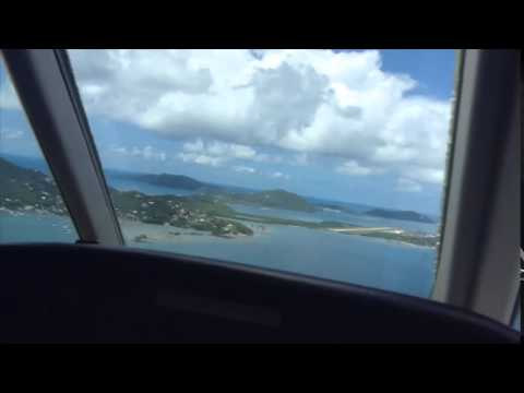Beef Island BVI Landing