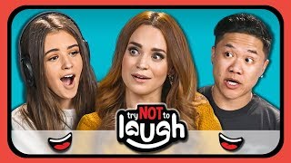 Youtubers React To Try To Watch This Without Laughing Or Grinning #18
