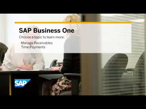 SAP Managing Cash Flow