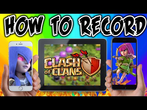 Clash of Clans - HOW TO RECORD iPOD, iPAD, iPHONE GAMEPLAY - No Jailbreak & FREE!